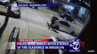 News video: Brooklyn Residents Woke Up To Find Dozens Of Tires Slashed In Neighborhood